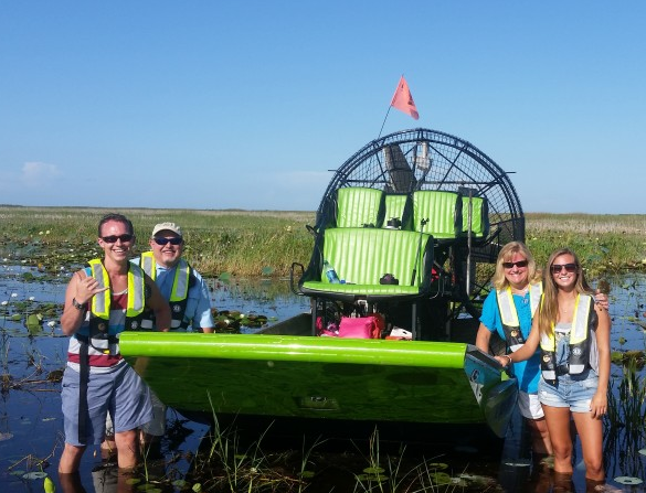 Air boating with Florida Airboat Charters